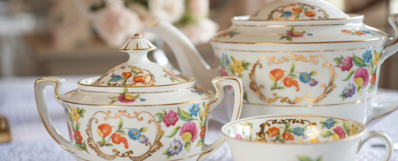 Tea cups at Asa Ransom House