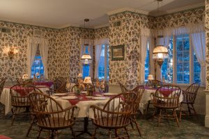 Dining room at our bed and breakfast in Western NY