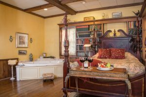 View inside Country Garden Suite at Asa Ransom House
