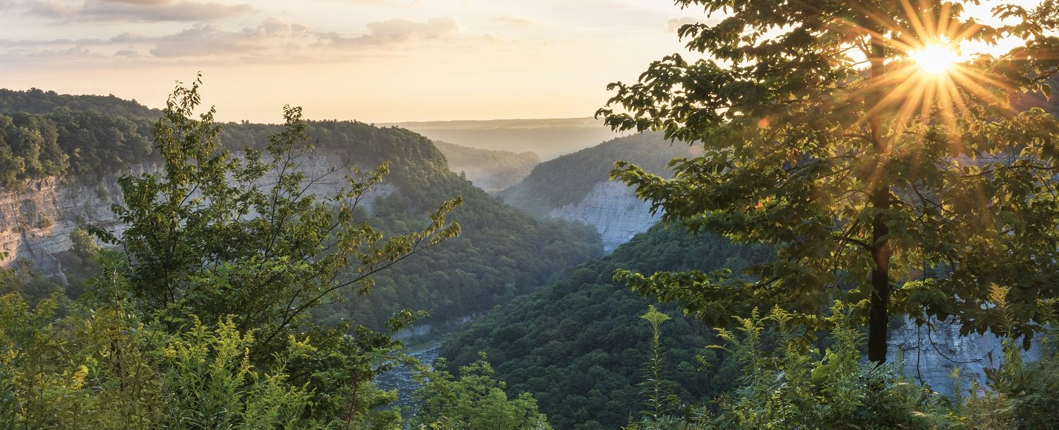 Sunrise At Letchworth State Park