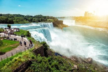 Niagara Falls, a beautiful destination after a scenic drive from Buffalo