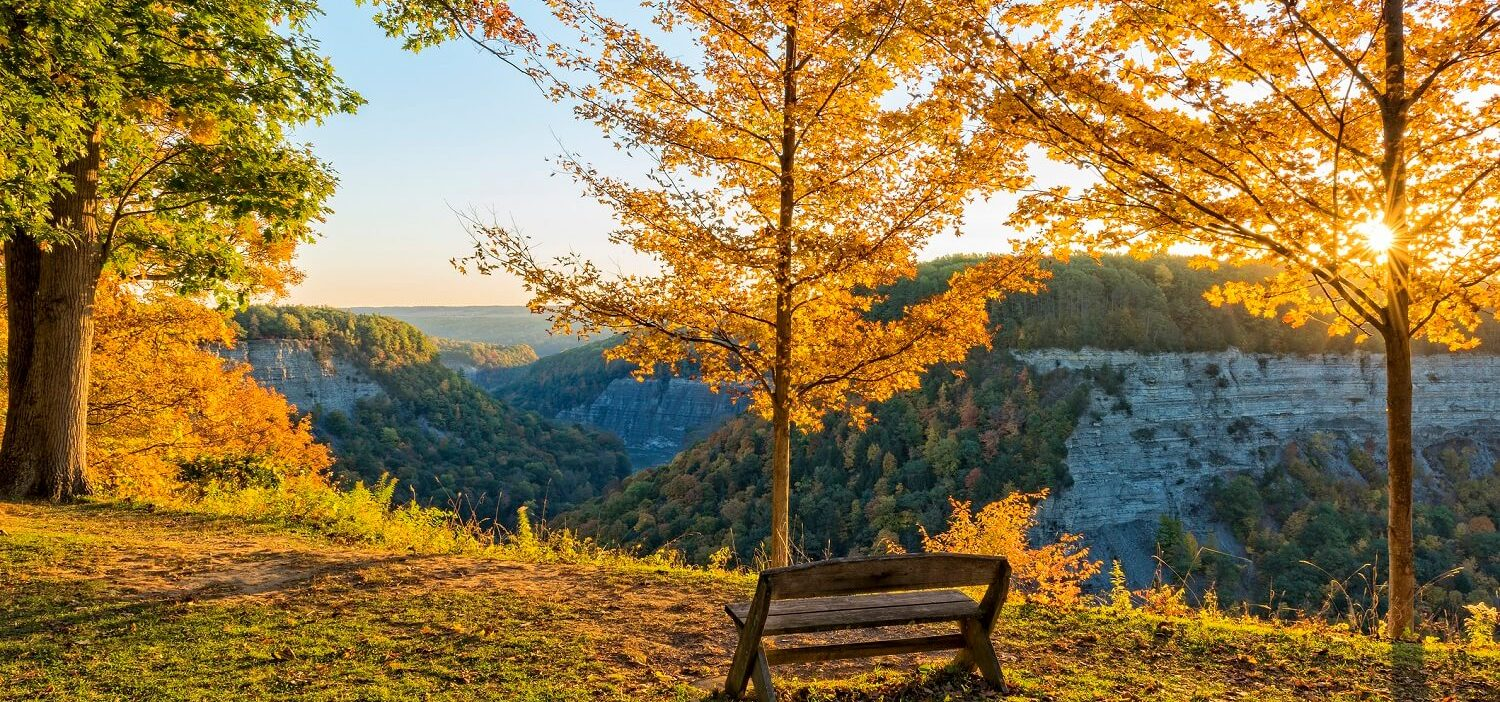letchworth state park in the fall