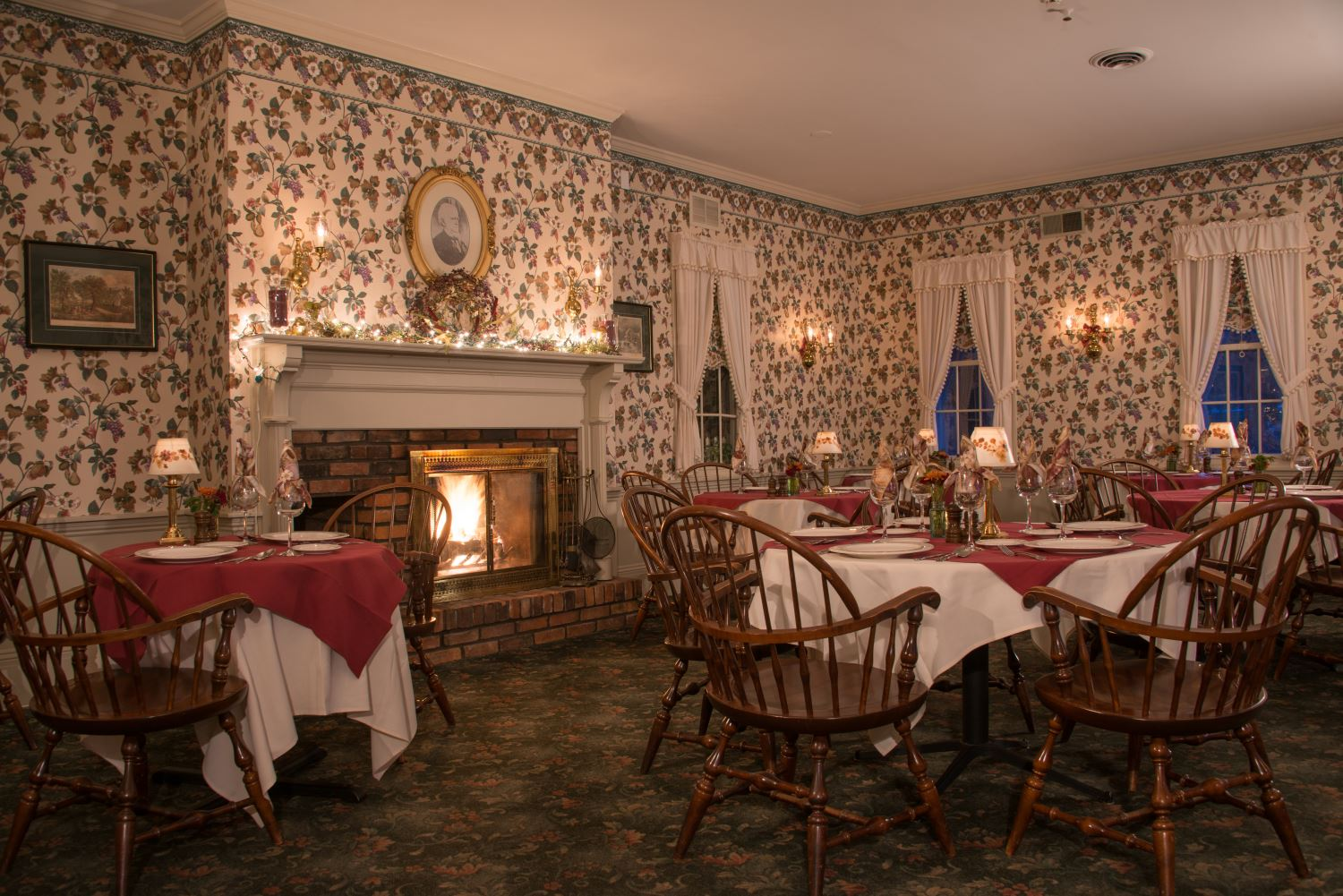 View By Fireplace In The Dining Room At Asa Ransom House